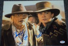 "Back To The Future"" Michael J Fox Christopher Lloyd Signed Photo Psa/dna V04594"