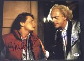 Back To The Future Michael J Fox Christopher Lloyd Signed Photo Psa/dna V04889 D