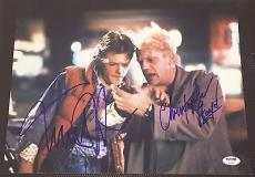 Back To The Future Michael J Fox Christopher Lloyd Signed Photo Psa/dna V04892 B