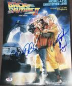 """Back To The Future"""" Michael J Fox Christopher Lloyd Signed Photo Psa/dna Y08436"""