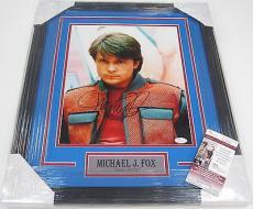 Back To The Future Michael J Fox Signed Autographed 11X14 PHOTO Framed Jsa Coa