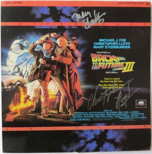 Back to the Future Signed Laser Disc Cover Fox/Lloyd/Steenburgen PSA/DNA COA