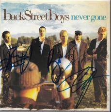 BACKSTREET BOYS group signed (NEVER GONE) CD COVER ALBUM W/COA *NICK CARTER*