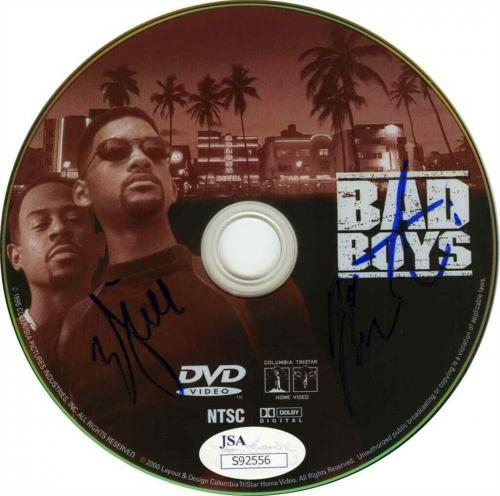 Bad Boys Will Smith and Martin Lawrence Autographed Signed 8x10 DVD JSA COA