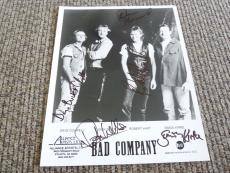 Bad Company All 4 Band Signed Autographed 8x10 Photo PSA Guaranteed