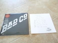 Bad Company Paul Rodgers SIGNED Set List Vinyl Barnes Noble LP Record Store Day