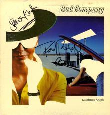 Bad Company X2 Signed Desolation Angels Album Cover LP AFTAL UACC RD COA