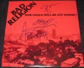 Bad Religion (5 Autos) Signed 'how Could Hell Be Any Worse' Album Cover Psa/dna
