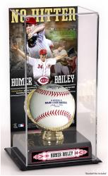 Homer Bailey Cincinnati Reds No-Hitter Gold Glove Baseball Display Case - Mounted Memories