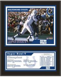 "Baltimore Colts Super Bowl V 12"" x 15"" Sublimated Plaque"