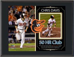 Chris Davis Baltimore Orioles 50th Home Run Sublimated 10.5'' x 13'' Plaque - Mounted Memories