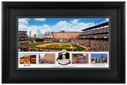 Oriole Park at Camden Yards Baltimore Orioles Framed Stadium Panoramic with Game-Used Ball-Limited Edition of 500 - Mounted Memories
