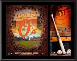 "Baltimore Orioles Sublimated 12"" x 15"" Team Logo Plaque"