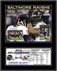 "Baltimore Ravens 2012 AFC Champions 12"" x 15"" Sublimated Plaque"