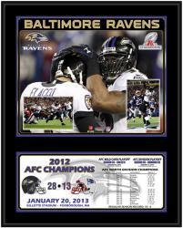 "Baltimore Ravens 2012 AFC Champions 12"" x 15"" Sublimated Plaque"