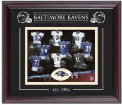 Baltimore Ravens Team Evolution 8'' x 10'' Framed Photo - Mounted Memories