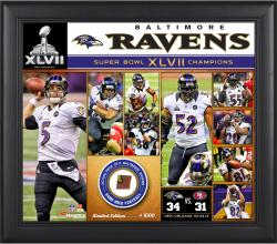 Baltimore Ravens Framed (sb 47) Collage W/ Ball