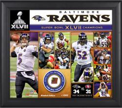 Baltimore Ravens Framed (sb 47) Collage W/ Ball