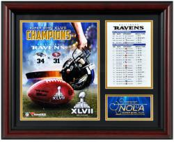 Baltimore Ravens Super Bowl XLVII Framed 13'' x 16'' Collage - Mounted Memories