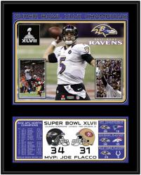 Baltimore Ravens Super Bowl XLVII Sublimated 12'' x 15'' Plaque - Mounted Memories
