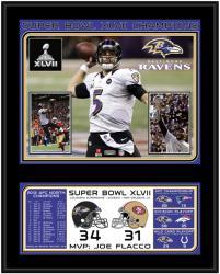 "Baltimore Ravens Super Bowl XLVII Sublimated 12"" x 15"" Plaque"