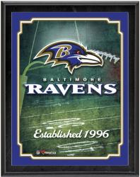"Baltimore Ravens Team Logo Sublimated 10.5"" x 13"" Plaque - Mounted Memories"
