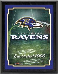 "Baltimore Ravens Team Logo Sublimated 10.5"" x 13"" Plaque"