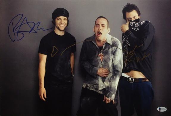 Bam Margera Johnny Knoxville Signed 12x18 Jackass Photo *Steve-O Beckett C39803