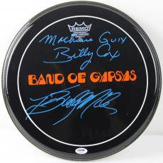 Band Of Gypsys Band Signed Remo Drumhead! Cox & Miles Psa/dna Coa V18297