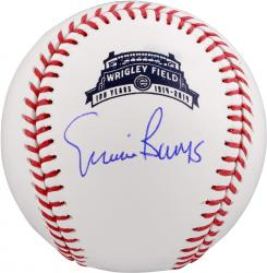 Ernie Banks Autographed 100th Anniversary Wrigley Field Baseball