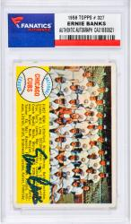 BANKS, ERNIE AUTO (1958 TOPPS # 327) CARD - Mounted Memories