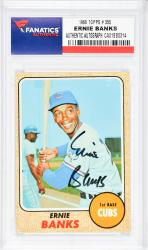 Ernie Banks Chicago Cubs Autographed 1968 Topps #355 Card  - Mounted Memories  - Mounted Memories