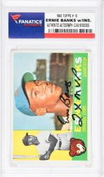 Ernie Banks Chicago Cubs Autographed 1960 Topps #10 Card with 2 X MVP Inscription - Mounted Memories  - Mounted Memories