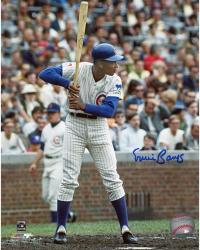Ernie Banks Chicago Cubs Autographed 8'' x 10'' Batting Stance Photograph
