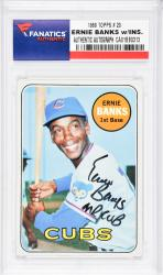 Ernie Banks Chicago Cubs Autographed 1969 Topps #20 Card with Mr. Cub Inscription - Mounted Memories  - Mounted Memories