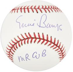Ernie Banks Chicago Cubs Autographed Baseball with Mr. Cub Inscription