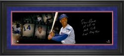 Ernie Banks Chicago Cubs Framed Autographed 10'' x 30'' Film Strip Photograph-#24 of Limited Edition of 24 With Multiple Inscriptions