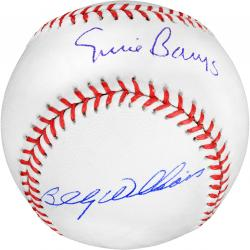 Ernie Banks and Billy Williams Chicago Cubs Autographed Baseball - Mounted Memories