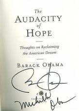 Barack & Michelle Obama Signed Autographed Audicity of Hope Book PSA/DNA