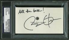 "Barack Obama ""All The Best"" Signed 2.75x5 Cut Autograph PSA Slabbed"