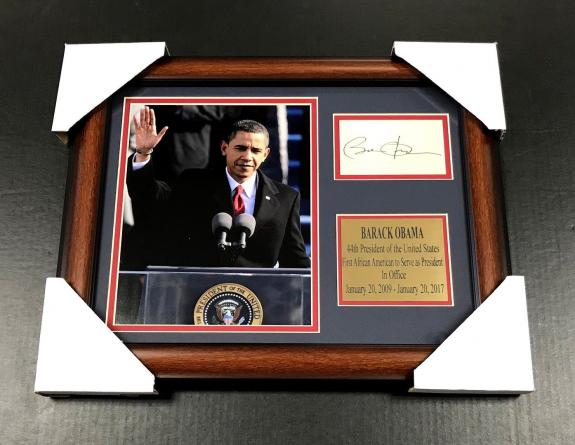 BARACK OBAMA Autographed Facsimile Reprint Framed 8x10 Photo 44TH PRESIDENT USA