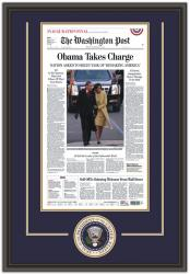 OBAMA, BARACK FRAMED Photo INAUGURATION WASH. POST (DELUXEw/LOGO)