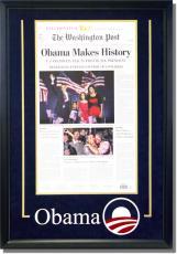 Barack Obama Deluxe Framed Washington Post