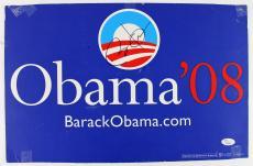 Barack Obama Signed 11x17 2008 Presidential Campaign Poster JSA Y94050