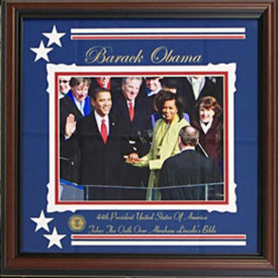 Barack Obama Unautographed 8x10 Framed Photo