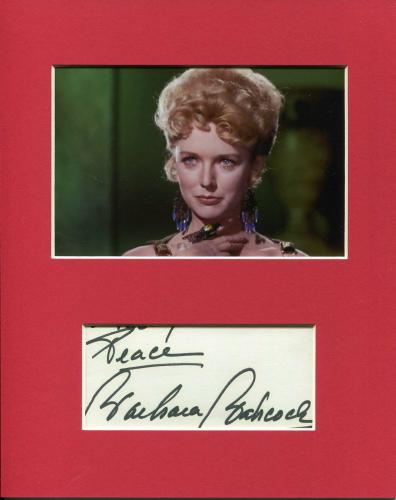 Barbara Babcock Star Trek Mea 3 Sexy Rare Signed Autograph Photo Display
