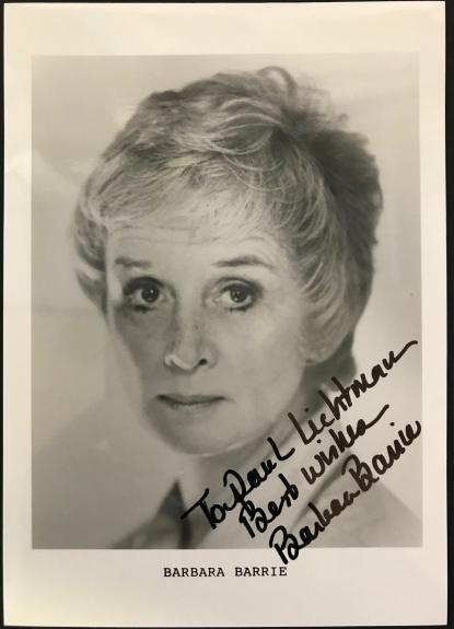 Barbara Barrie Autographed 5x7 Black & White Photo