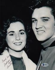 Barbara Hearn Smith Signed 8x10 w/ Elvis Presley Photo Beckett BAS #B19218