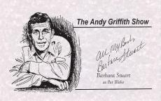 "BARBARA STUART ""THE ANDY GRIFFITH SHOW"" as PAT BLAKE (Passed Away 2011) Signed 8.5 x 5.5 Promo Sheet"