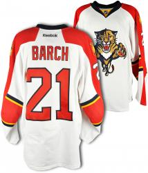 Krys Barch Florida Panthers Game-Used Hockey White Jersey-Set 2 - Mounted Memories